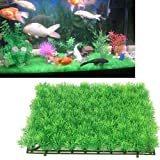 "Colourful Aquarium Artificial / Plastic Plant For Decoration - 11"" Square Mat Grass 1 No"