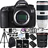 Canon EOS 5DS R DSLR Camera with EF 17-40mm f/4L USM Lens & EF 70-200mm f/2.8L IS II USM Lens & 15PC Accessory Kit - Includes 3PC Filter Kit (UV-CPL-FLD) + MORE - International Version (No Warranty)