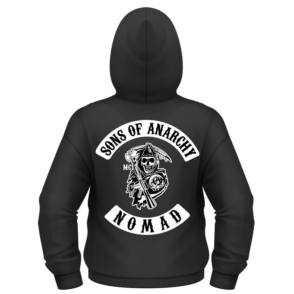 Sudadera con capucha y cierre de cremallera Sons of Anarchy, personalizable, tallas S-3XL Negro negro XXX-Large: Amazon.es: Ropa y accesorios