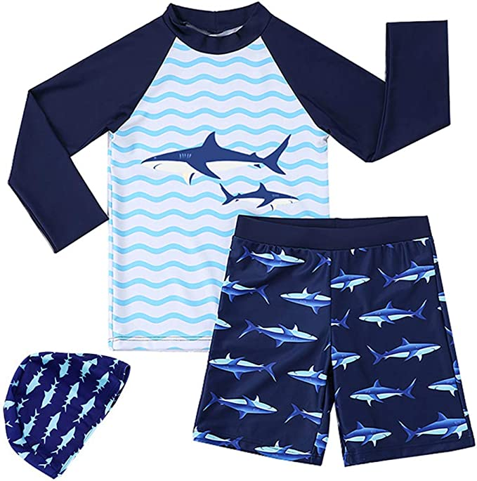 SWEET-YZ Funny Shark Mens Board Shorts Beach Shorts Swim Trunks