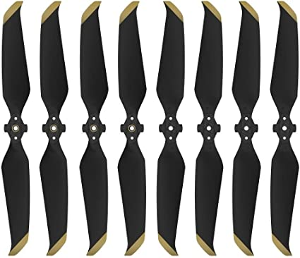 2 Pair 7238F Quick-Release Low-Noise Propellers for DJI Mavic Air 2 Gold