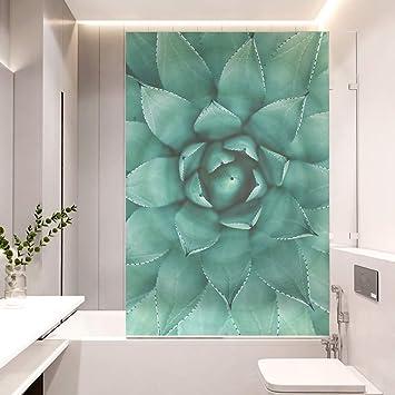 Ljiei Fensterfolie Grune Pflanze Aufkleber Zellophan Badezimmer Toilette Isolierung Fenster Aufkleber Sonnenschutz Fenster Aufkleber Glasfolie Amazon De Baumarkt