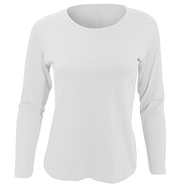 35fd5cd28f23 SOLS Majestic - T-shirt à manches longues - Femme (S) (Blanc