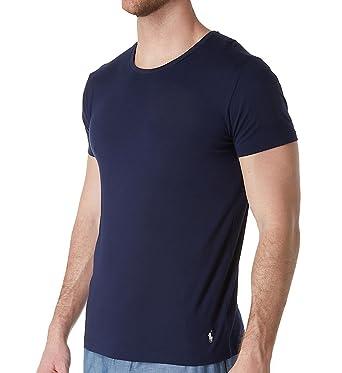 5b88306a3f19d Polo Ralph Lauren Cotton Modal Slim Fit Wide Neck Crew T-Shirt (PK06SR)