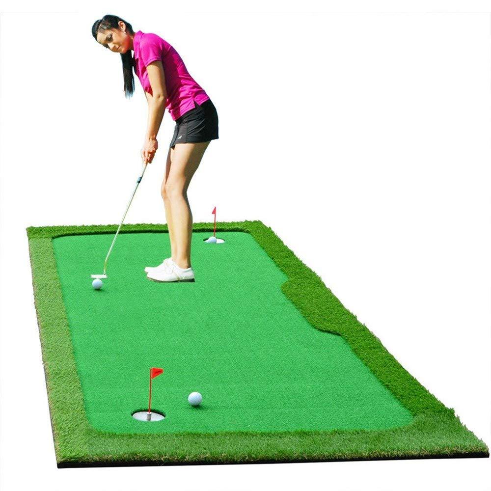 77tech Large Golf Putting Green Mat Indoor/Outdoor Artificial Grass Golf Training Aid Equipment Mat (4'X10')