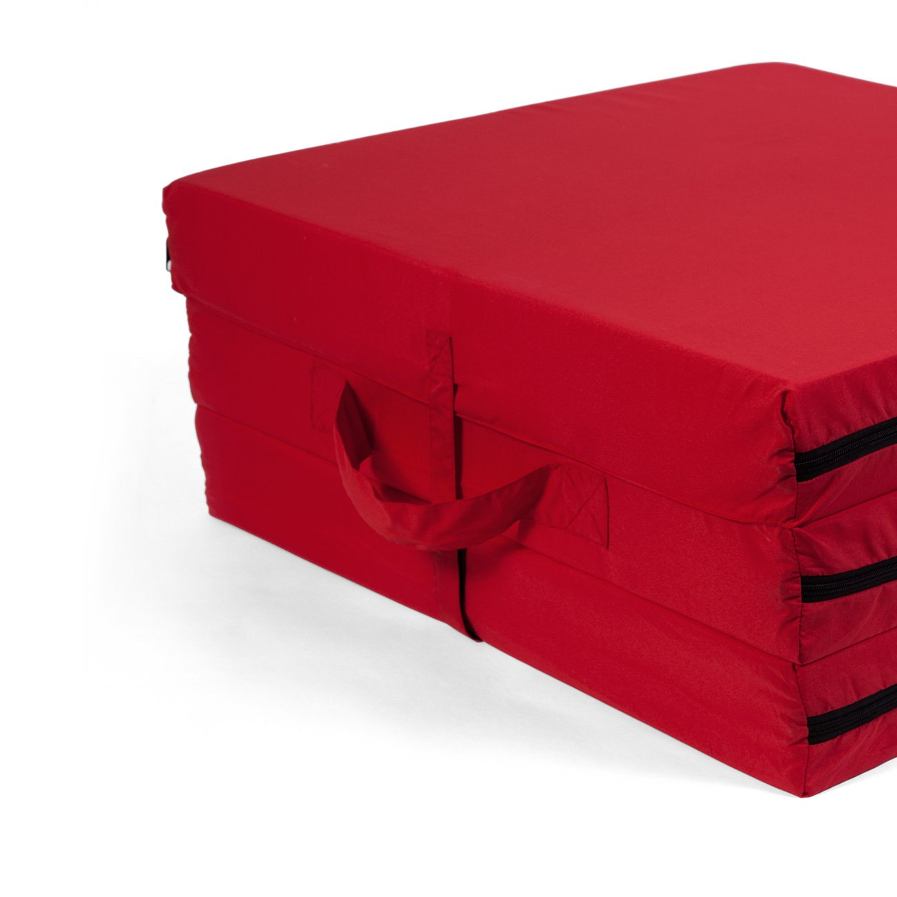 Pile of Pillows Fold A Bed-Tri Fold Bed, Red - 6265-T