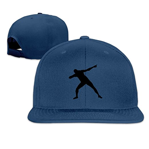 more photos 504e6 1257b ... czech amazon casual usain bolt silhoutte 1c snapback baseball cap hat  adjustable one size fits all