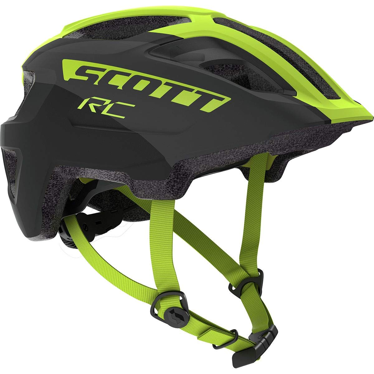 Scott Spunto Junior Plus Helmet - Kids' Black/Yellow Rc, One Size
