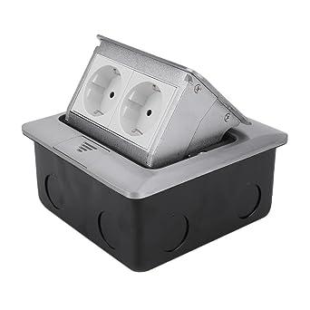 Bodensteckdose 2 Fach Versenkbare Einbausteckdose In Metallehause