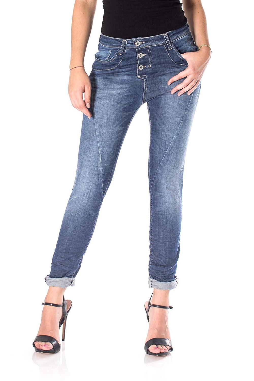 TALLA L. Please Jeans Mujer p78a Marrón, Azul Vaquero