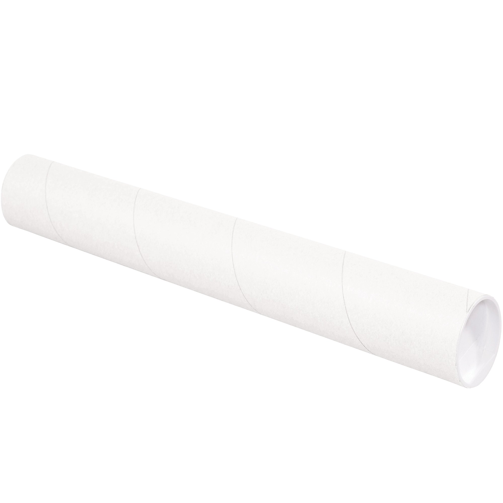 Aviditi P3015W Mailing Tubes with Caps, 3'' x 15'', White (Pack of 24) by Aviditi