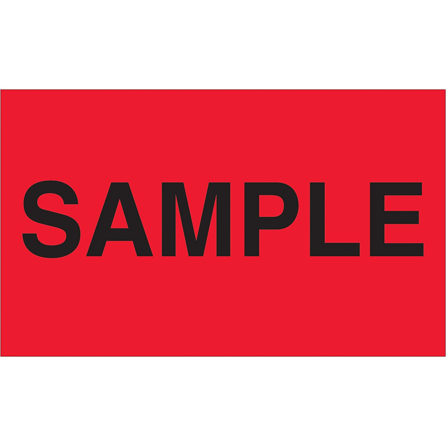 Ready to Ship Labels//Stickers 1 Roll 3 x 5 500 Labels Per Roll Fluorescent Red