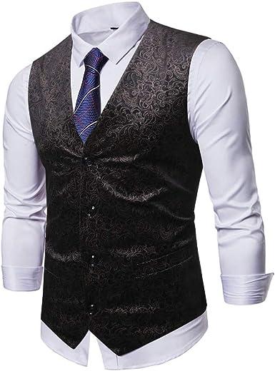 Chaleco de Hombre Casual Blazer de algodón de Trigo Oscuro Slim ...