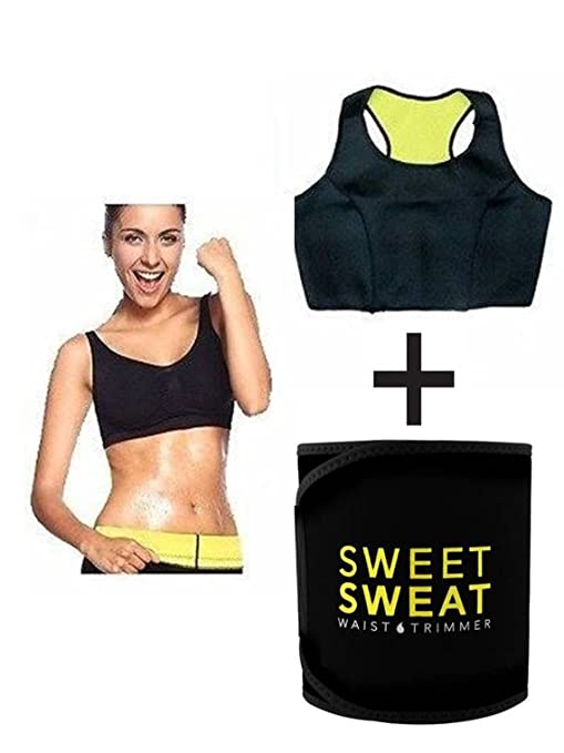 2f6295ecdb Buy Sweet Sweat Waist Trimmer® Top and Hot Waist Shaper Belt Instant Slim  Look Belt for Women Online at Low Prices in India - Amazon.in