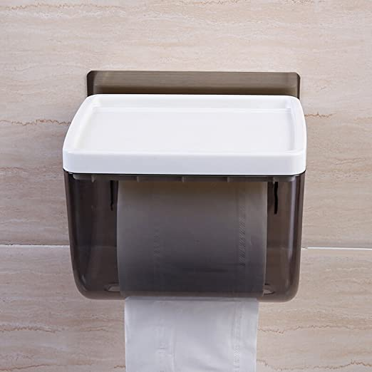 Wall Mounted Tissue Dispenser Bathroom Toilet Paper Towels Holder Roll Cover Box