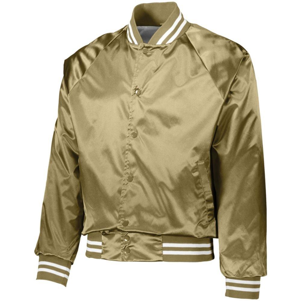 Augusta Activewear Men's Satin Baseball Jacket/Striped Trim AA3610