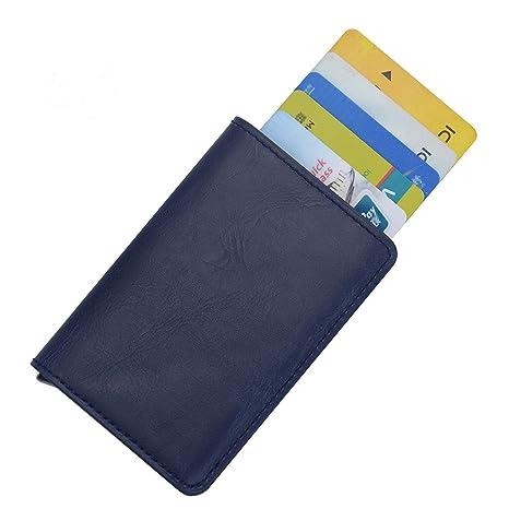 Cartera Tarjeta de Crédito, Bloqueo RFID, Cartera de Aleación de Aluminio Multiuso Bolsillos,