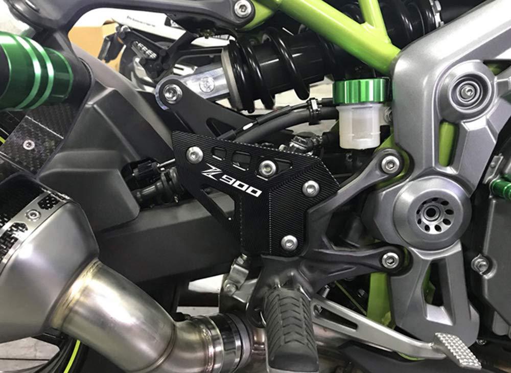 Gr/ün Motorrad CNC Aluminium Rahmen Lochdeckel mit Schrauben 5M Verkleidungs Schutz f/ür Kawasaki Z900 Z 900 2017 2018 2019