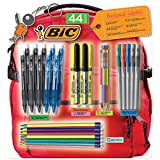 BIC School Supplies Includes Pens, Pencils, Markers, and Highlighters, 44 ct