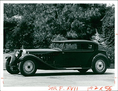 1927 Car - Vintage photo of Bugatti cars 1927.