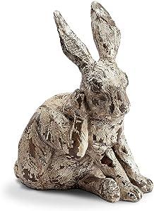 SPI Home Scratching Rabbit Garden Sculpture (11 inches high)