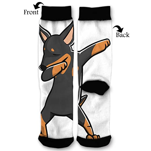 Amazon.com  Funny Dabbing Miniature Pinscher Dog Unisex Casual ... 854159702