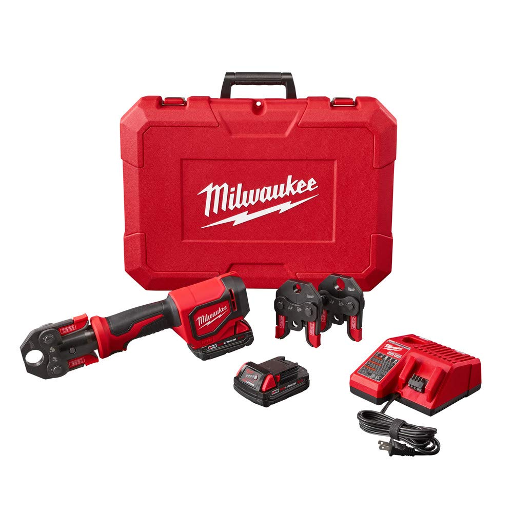 Milwaukee 2674-22C Short Throw Press Tool Kit w/ PEX Crimp Jaws