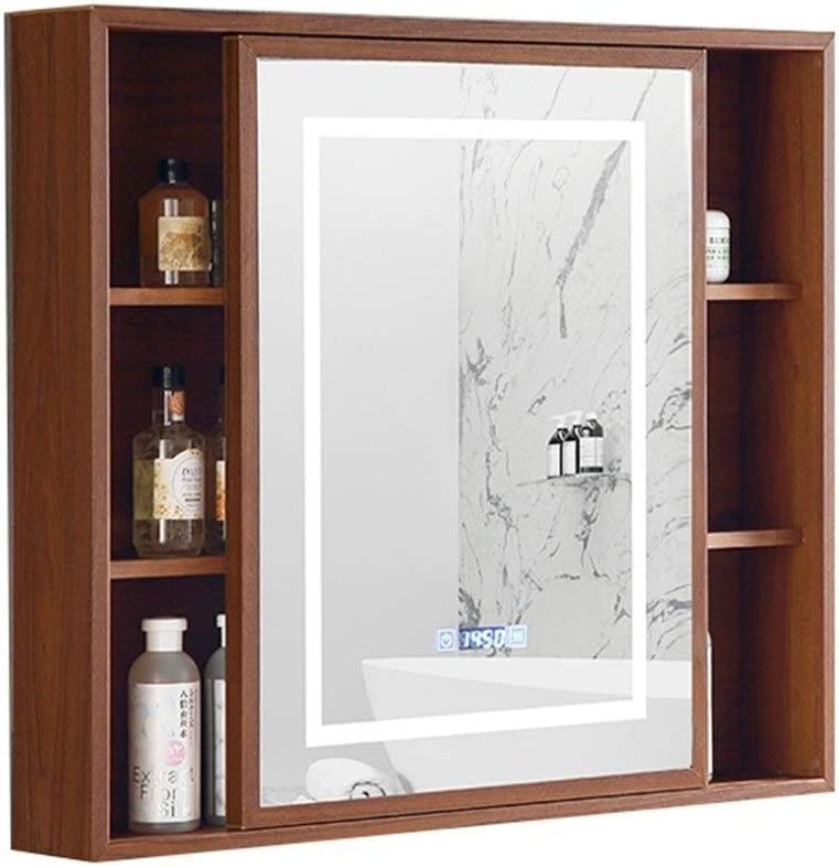 Amazon Com Medicine Cabinet Bathroom Mirror Cabinet Space Aluminum Mirror Cabinet Bedroom Living Room Mirror Cabinet Dressing Table Mirror Cabinet Color Wood Size 601370cm Home Kitchen
