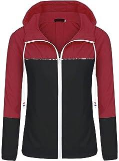 09f733fba ZEGOLO Women's Raincoats Waterproof Packable Windbreaker Lightweight Active  Outdoor Hooded Rain Jacket S-XXL