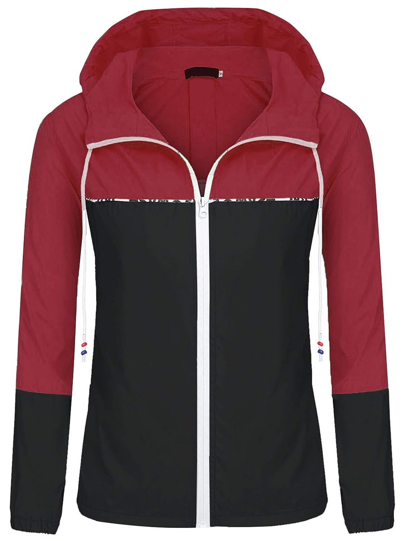 f4af61291 Amazon.com: ZEGOLO Women's Raincoats Waterproof Packable Windbreaker  Lightweight Active Outdoor Hooded Rain Jacket S-XXL: Clothing