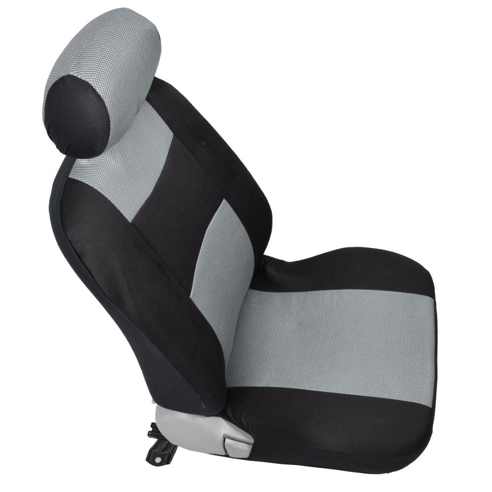 Original Gray /& Black Polyester w// Breathable Knit Mesh Comfort Fresh-Mesh Seat Covers Set