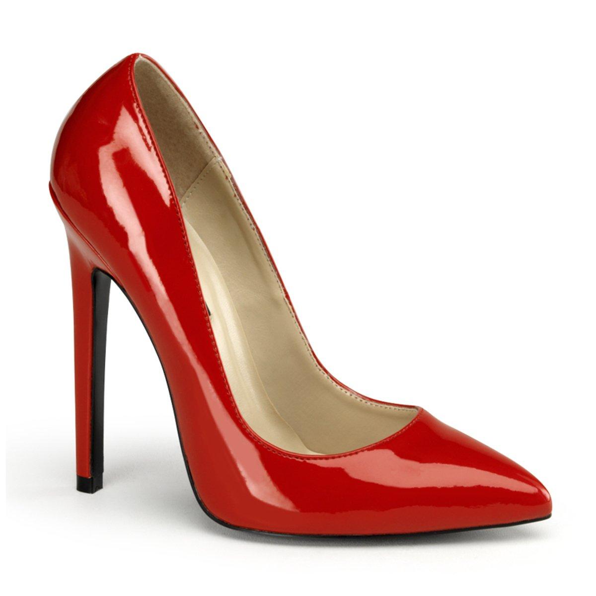Pleaser EU-SEXY-20 - Zapatos de tacón de material sintético mujer 45 EU|Rot