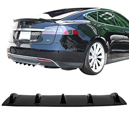 Amazon com: Rear Bumper Lip Diffuser Fits 2012-2016 Tesla Model S