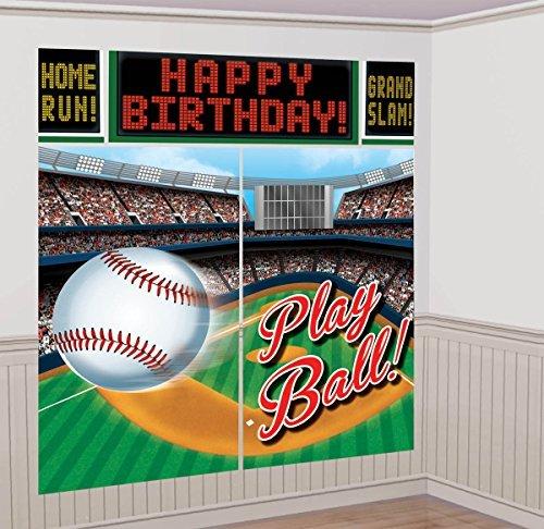 Amscan Baseball Scene Setter Wall Decorating Kit (Each)