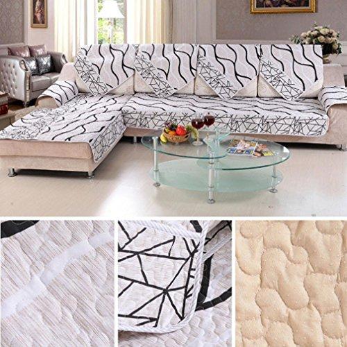 Sofa Cushion, Hometom Sofa Cover Black And White Striped Sofa Sectional Sofa For Cover Case Sofa Armre (20*28INCH) (Square Sectional Sofa)