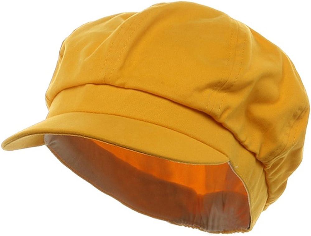 SS//Sophia Cotton Elastic Newsboy Cap-Yellow