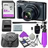 Canon PowerShot SX730 Digital Camera with 64GB SD Memory Card + Accessory Bundle