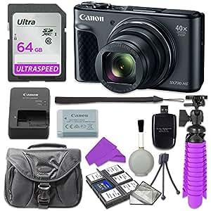 Canon PowerShot SX730 Digital Camera with 64GB SD Memory Card + Accessory Bundle