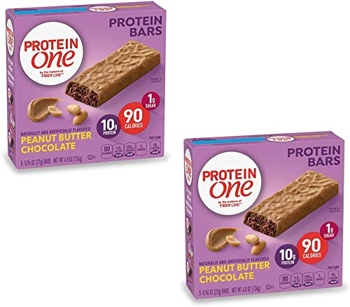 PROTEIN ONE 90 Calorie Protein Bar, Peanut Butter Chocolate, 4.8 oz us Pack of 2