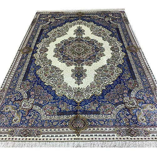 Yilong Carpet 6x9ft Pure Handmade Tabriz Silk Rug Vintage High-end Persian Handwoven Area Rug for Living Room Bedroom…