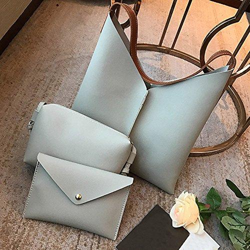 Litchi Mobile Tote Bag Clutch Corssbody Messenger nbsp;b Packet Gray with Women's 3Pcs Pattern Handbags Handbag Shoulder Bag Wallet Satchel Leather Clearance UwZqEOxn1B