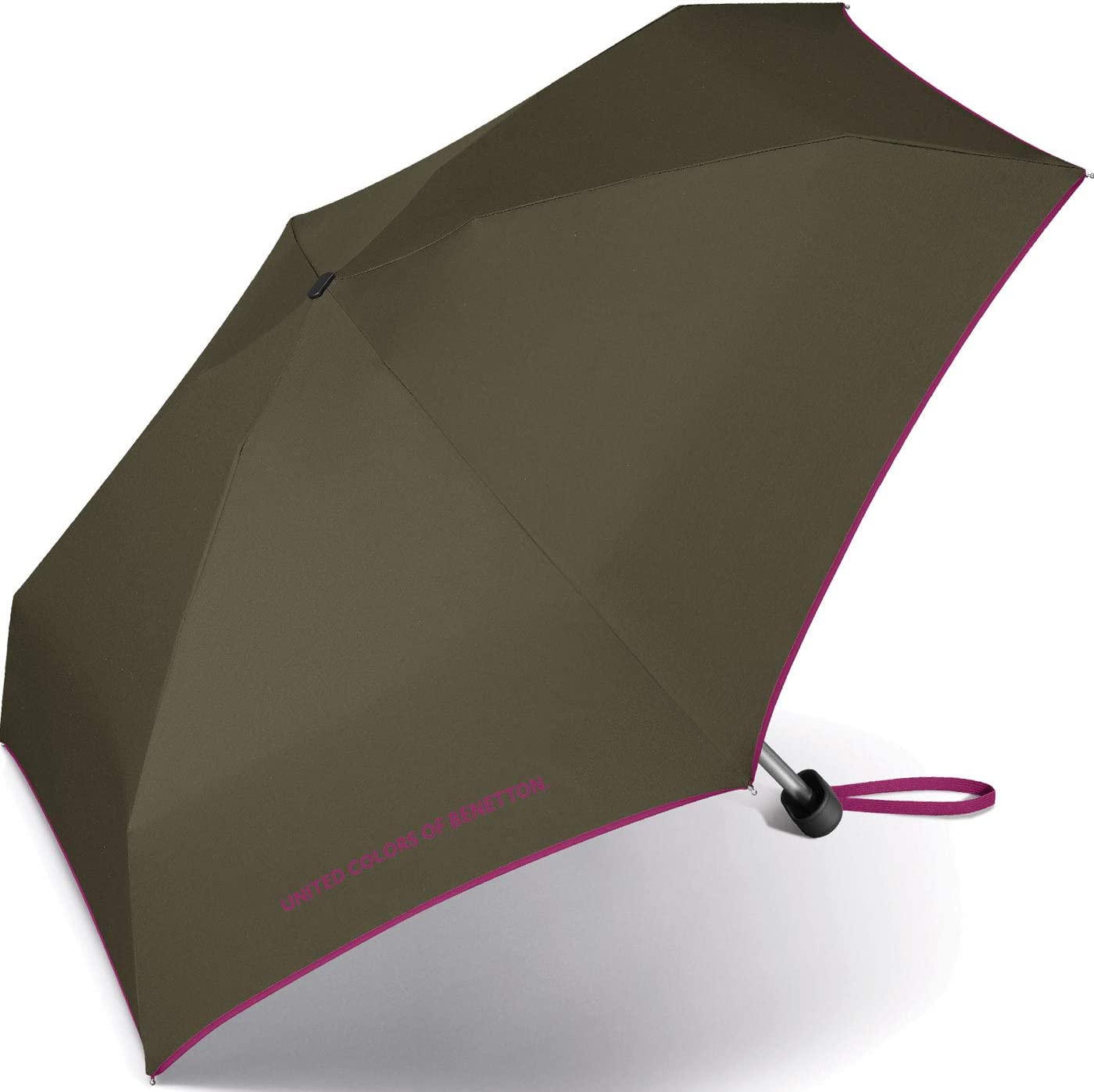 Couleur Vert Kaki. 8 tiges de 88 cm de diam/ètre Parapluie Ultra Mini Femme Manuel United Colors of Benetton