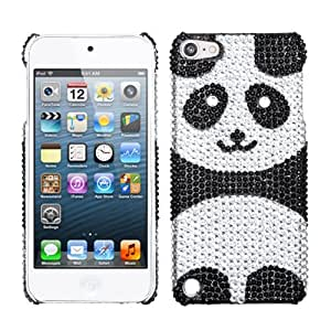 Snap on Cover Fits Apple iPod Touch 5 (5th Generation) Playful Panda Full Diamond/Rhinestone Back (Please carefully check your device model to order the correct version.)