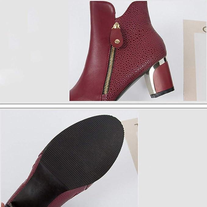 Amazon.com: RINKOUa - Botas redondas de Inglaterra, color ...