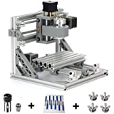 TopDirect CNC Router Engraving Machine with 5mm ER11 and Extension Motor Shaft Collet, 160 * 100 * 45mm, PCB PVC Wood Metal Milling Machine + 10pcs CNC Router Bits + 4pcs CNC Support