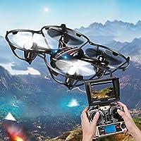 Annong JJRC H6D RC Quadcopter 2.4G 4CH 6Axis Gyro RC Drone 2.0MP HD Camera 5.8G FPV CF Mode RC Explorers LED Night Lights + 3pcs Batteries