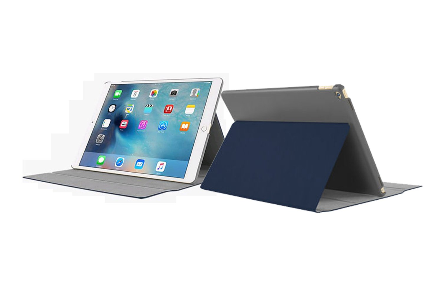 separation shoes ca700 5a080 iPad Pro Case,Incipio [Faraday] iPad Pro Ultra-Thin Slim Fit with Magnetic  Folio Fold Rigid Over Closure Cover Vegan Leather case - Navy