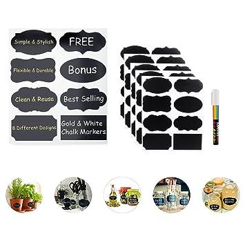 40x Chalkboard Blackboard Stickers Labels For Mason Jar Canning Wedding Party