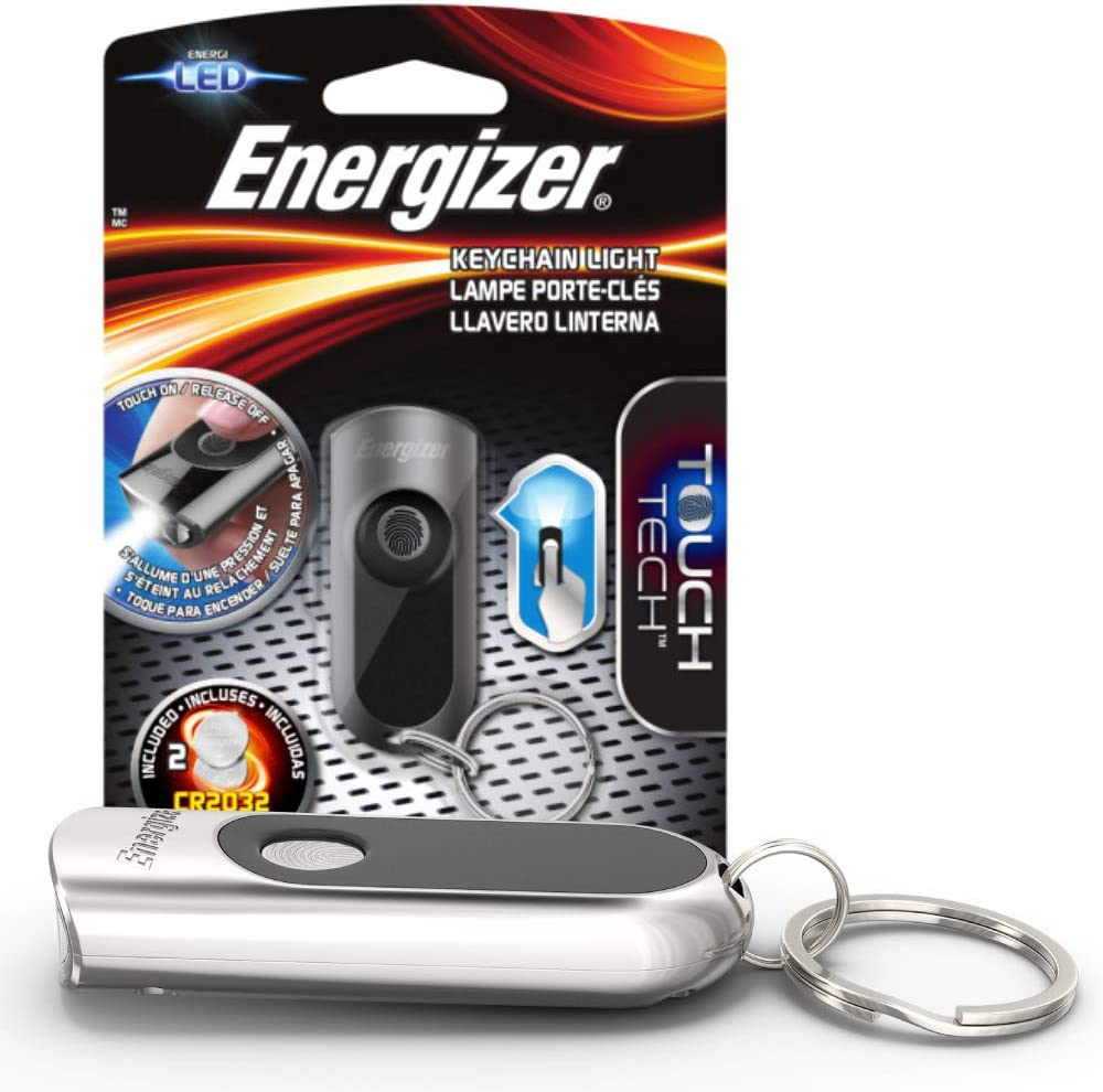 Energizer LED Keychain Flashlight with Touch Technology , Ultra Bright - Durable Metal Keychain Light, Long-Lasting Battery Life, Compact and ...