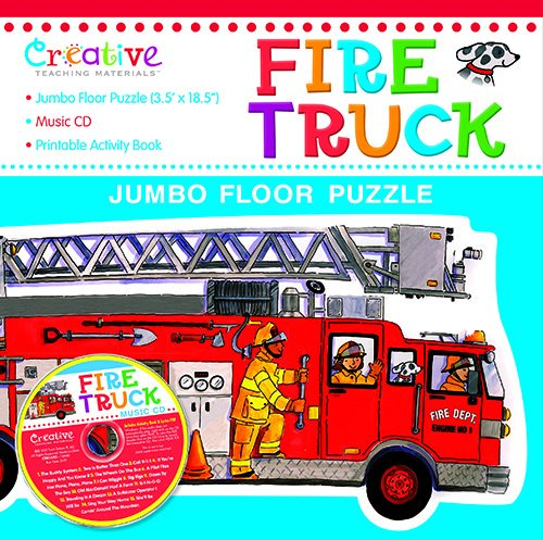 Fire Book Cd Truck (Fire Truck Jumbo Floor Puzzle with CD)